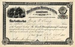 Ferrell Manufacturing Company ( AfroAmerican Inventor Frank J. Ferrell) - New Jersey 1891