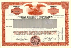 Federal Resources Corporation - Nevada 1986