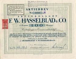 F.W. Hasselblad & Company (Famous Camera Company)  - Göteborg, Sweden 1919