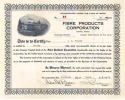 Fibre Products Corporation 1925