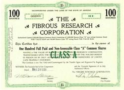 Fibrous Research Corporation 1930