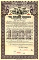 Fidelity Company Specimen Gold Bond  - New Jersey 1909