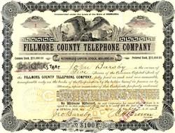 Fillmore County Telephone Company (certificate #1)  - Nebraska 1903