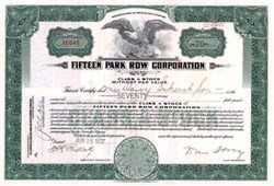Fifteen Park Row Corporation 1932
