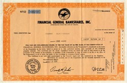 Financial General Bankshares, Inc. (Became  First American Bankshares)  - Virginia 1974