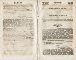 "Army Document No. 286 ""Colored Persons in the Army"" - 1842"
