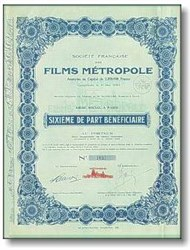 Films Metropole, Paris 1929