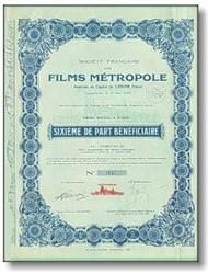 Films Metropole, Paris 1929