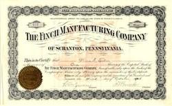 Finch Manufacturing Company - Scranton, Pennsylvania 1905