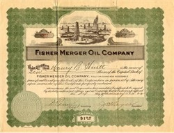 Fisher Merger Oil Company - Arizona 1922