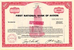 First National Bank of Akron (Became first Bancorporation of Ohio)  - Ohio