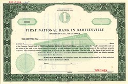 First National Bank of Bartlesville - Oklahoma