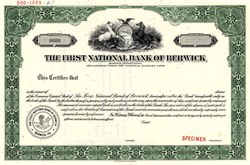 First National Bank of Berwick - Pennsylvania
