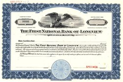 First National Bank of Longview (Famous Bank Robbed by Dalton gang) - Texas