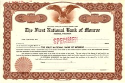 First National Bank of Monroe - Wisconsin
