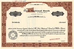 First National Bank of Wilkes-Barre - Pennsylvania