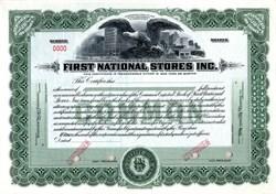 First National Stores, Inc.  (Finast Supermarket) - Somerville Massachusetts 1925