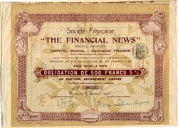 Societe Franacise Financial News - 1910