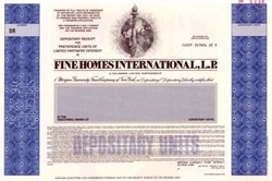 Fine Homes International, L.P. ( Merrill Lynch Mortgage Company )
