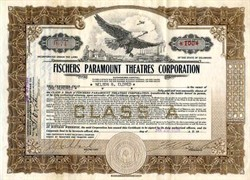 Fischers Paramount Theatres Corporation - Delaware, 1929