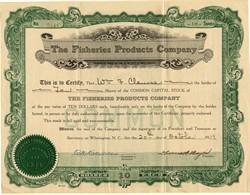 Fisheries Products Company - Wilmington, North Carolina 1919