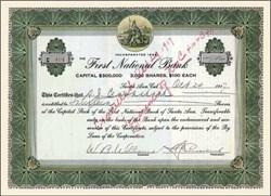 First National Bank of Santa Ana 1917 - California