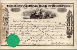 First National Bank of Biddleford 1873 - Maine