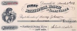 First National Bank of Dansville 1880 - New York
