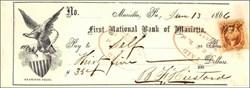 First National Bank of Marietta 1866-1869 Pennsylvania