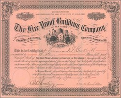 Fire Proof Building Company 1886 - New Jersey