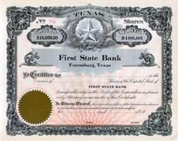 First State Bank of Forestburg, Texas - Texas Star Vignette