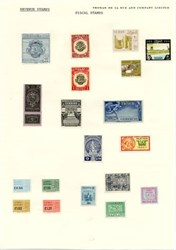 Fiscal Stamps - Specimens