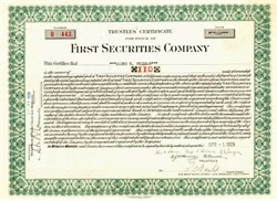 First Securities Company - Los Angeles, California 1929 ( Early Security Pacific National Bank Company )