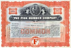 Fisk Rubber Company 1932 (Early US Rubber - Uniroyal Company) - Massachusetts