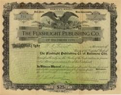 Flashlight Publishing Company of Baltimore City 1897