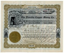 Floredia Copper Mining Co.(Scam mining company)  - Territory of Arizona 1907