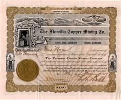 Floredia Copper Mining Co. - Territory of Arizona 1907