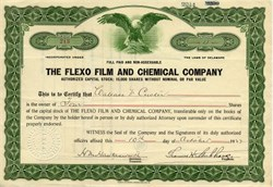 Flexo Film and Chemical Company - Delaware 1922