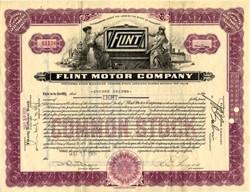 Flint Motor Car Company - Michigan 1926