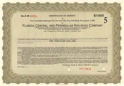 Florida Central and Peninsular Railroad Company