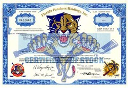 Florida Panthers Holdings, Inc (Classic Graphics - panther breaking a hockey stick) - Hockey Club