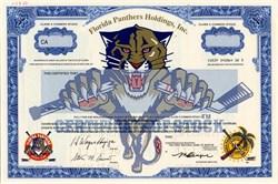 Florida Panthers Holdings, Inc. (Rare Specimen) - Florida 1997