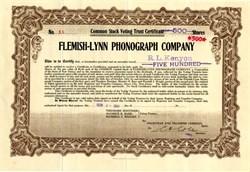 Flemish-Lynn Phonograph Company - New Jersey 1916