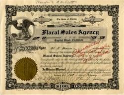 Flaral Sales Agency - Florida 1924