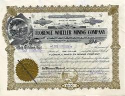Florence Wheeler Mining Company - Goldfield, Nevada 1908