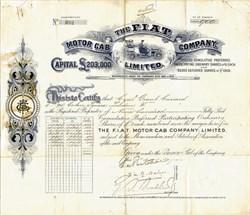 F.I.A.T Motor Cab Company, Limited - 1909