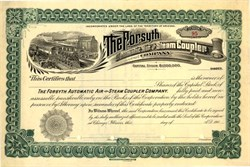 Forsyth Automatic Air and Steam Coupler Company - Territory of Arizona 1900