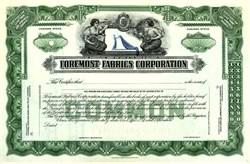 Foremost Fabrics Corporation - Delaware