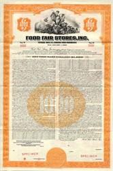 Food Fair Stores, Inc. $1000 Specimen Bond - Pennsylvania 1950