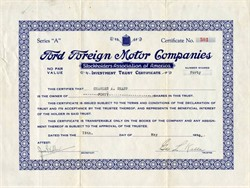 Ford Foreign Motor Companies (Fraud) - 1930